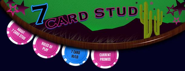 Stud high low poker